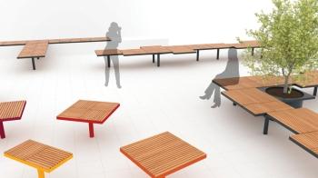 pixel, PIX, seating element, design: David Karasek