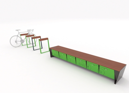 bikeblocq, eblocq, bicycle stand, park bench, EBQ, BBQ, design: David Karasek, smartcite